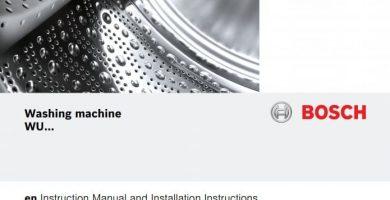 Washing machine Bosch Wuq24468es PDF instructions