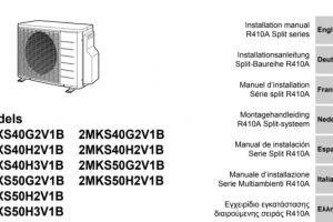 User Manual Air Conditioner Daikin 2AMX50G3V1B PDF.